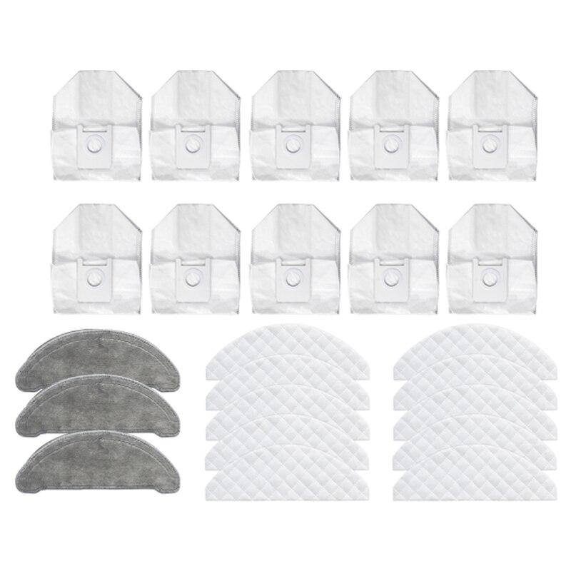 23 قطعة ل Roidmi حواء زائد مكنسة كهربائية كيس لجميع الغبار ممسحة القماش تنظيف الملابس المتاح استبدال أجزاء الملحقات