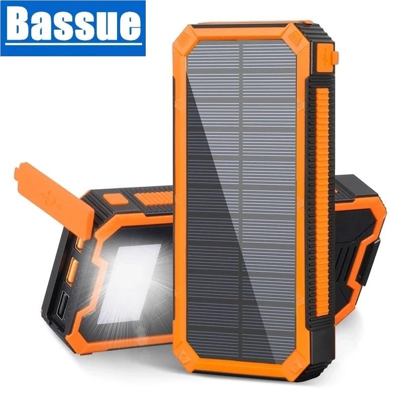 30000mAh بنك الطاقة الشمسية 18 واط QC PD3.0 شحن سريع Powerbank آيفون هواوي سامسونج شاومي Poverbank مع LED التخييم ضوء