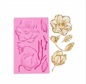 Flower Leaf Lace  Silicone Fondant Chocolate Resin Sugarcraft Mold For Pastry Cup Cake Decorating Kitchen Tool
