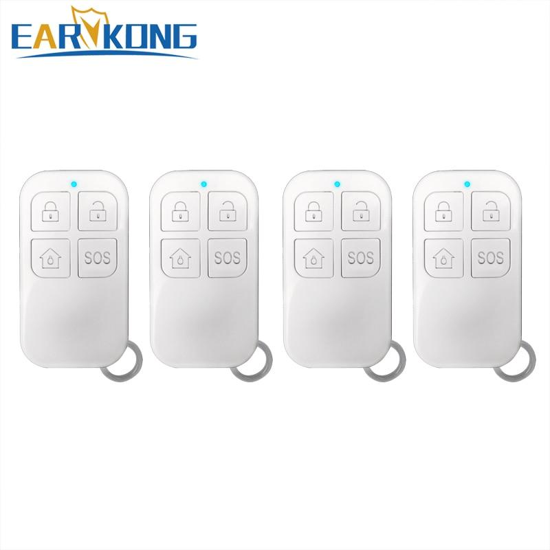 433MHz اللاسلكية عن بعد نظام تحكم ل W2B أو PG103 Wifi إنذار البطارية داخل ، 4 زر مفتاح سلسلة.