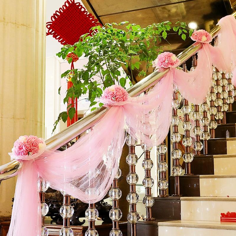 Rollo de gasa transparente de cristal puro 4,5 metros/lote de tela para decoración de boda, despedida de soltero, bandas de Organza para sillas de 50cm de ancho