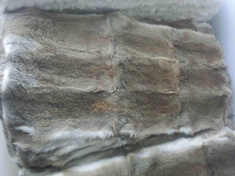 Natural 100% Genuine Real Rabbit Fur Skin Pelt Fur Blanket For Garments