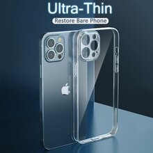 Ultra Thin Lens Protection Case For iPhone 12 Mini 11 Pro Max XR X Xs Max 6 7 8 Plus SE 2020 Soft Cl