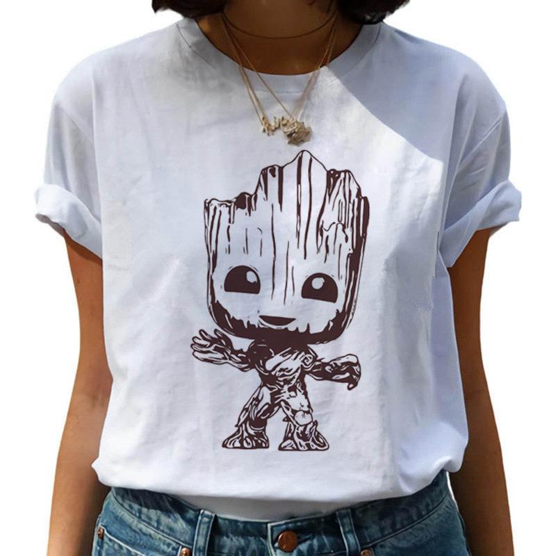 Bebé playera Groot Harajuku Kawaii la Sra. Camiseta soy Groot Ullzang lindo de dibujos animados camiseta de la impresión de la camiseta, top