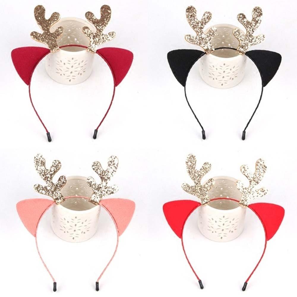Headbands natal Fantasia Chifres de Rena Xmas Crianças Adultos Headband Partido Hairband Decor Headwear Acessórios de Cabelo Presente