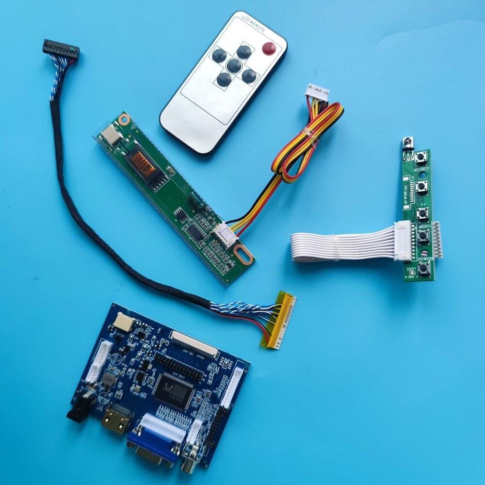 عدة عمل ل LTN121W1-L01/LTN121W1-L03 20pin HDMI VGA سائق لوحة 2AV لتقوم بها بنفسك LVDS وحدة تحكم بشاشة إل سي دي مجلس بعيد AV شاشة 1280x800