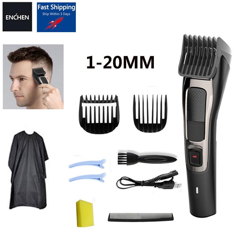 جديد ENCHEN مقص الشعر المهنية المتقلب ماكينة حلاقة حلاقة قص الشعر قابلة للشحن آلة الحلاقة اللاسلكي حلاقة للرجال