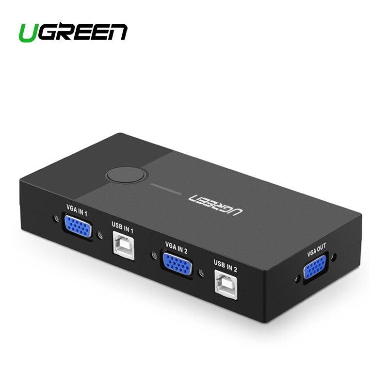 Ugreen HDMI-kompatibel KVM Switch 2 Port 4K USB Schalter KVM VGA Switcher Splitter Box für Sharing Tastatur maus KVM Schalter