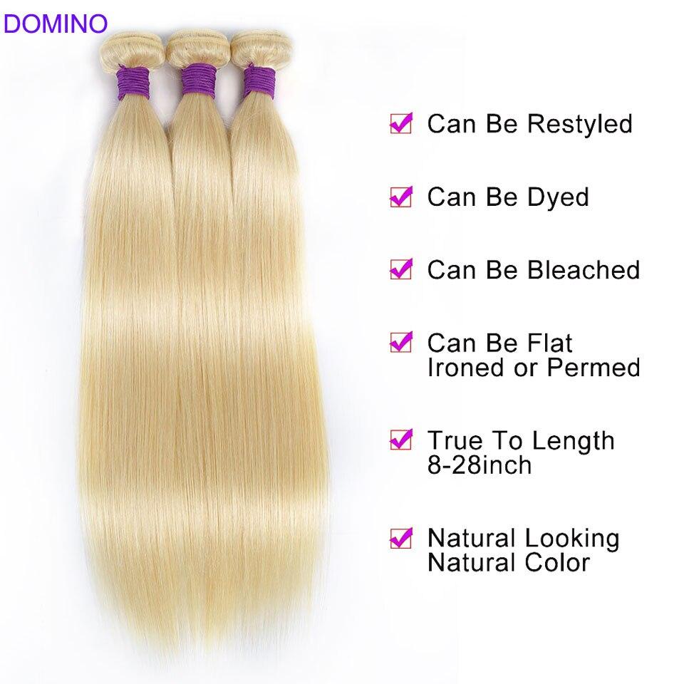 613 Blonde Straight Bundles Brazilian Hair Bundles 1/3/4 Bundle Deals 100% Human Hair For Woman Remy