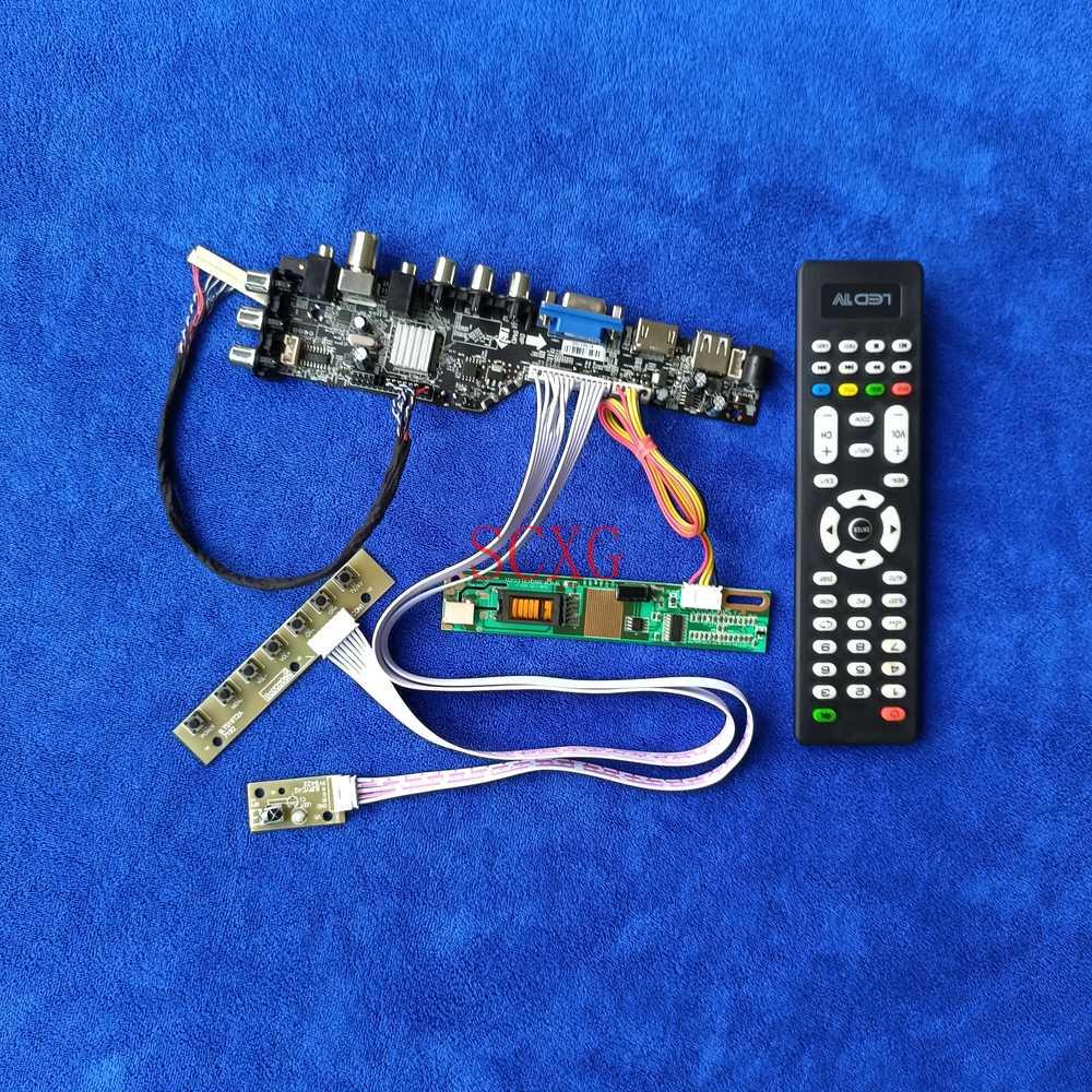 الرقمية إشارة DVB 1680*1050 USB VGA AV HDMI-متوافق 1CCFL 30Pin-LVDS عدة ل B154SW01/LTN154MT02 شاشة الكريستال السائل بطاقة وحدة التحكم