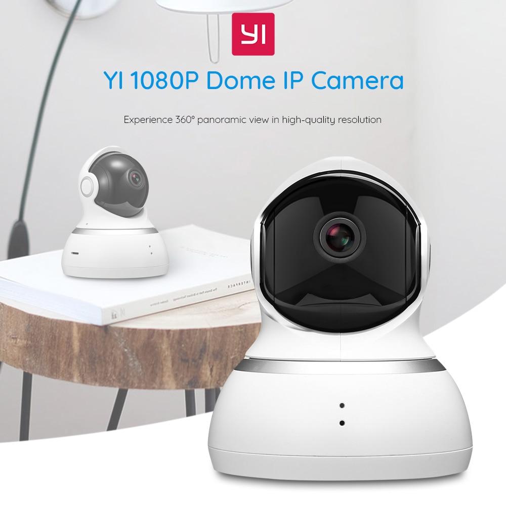YI Dome cámara IP 1080P Wifi alarma inalámbrica Callback sistema de vigilancia de seguridad del hogar 360 grados de cobertura visión nocturna EU Cloud