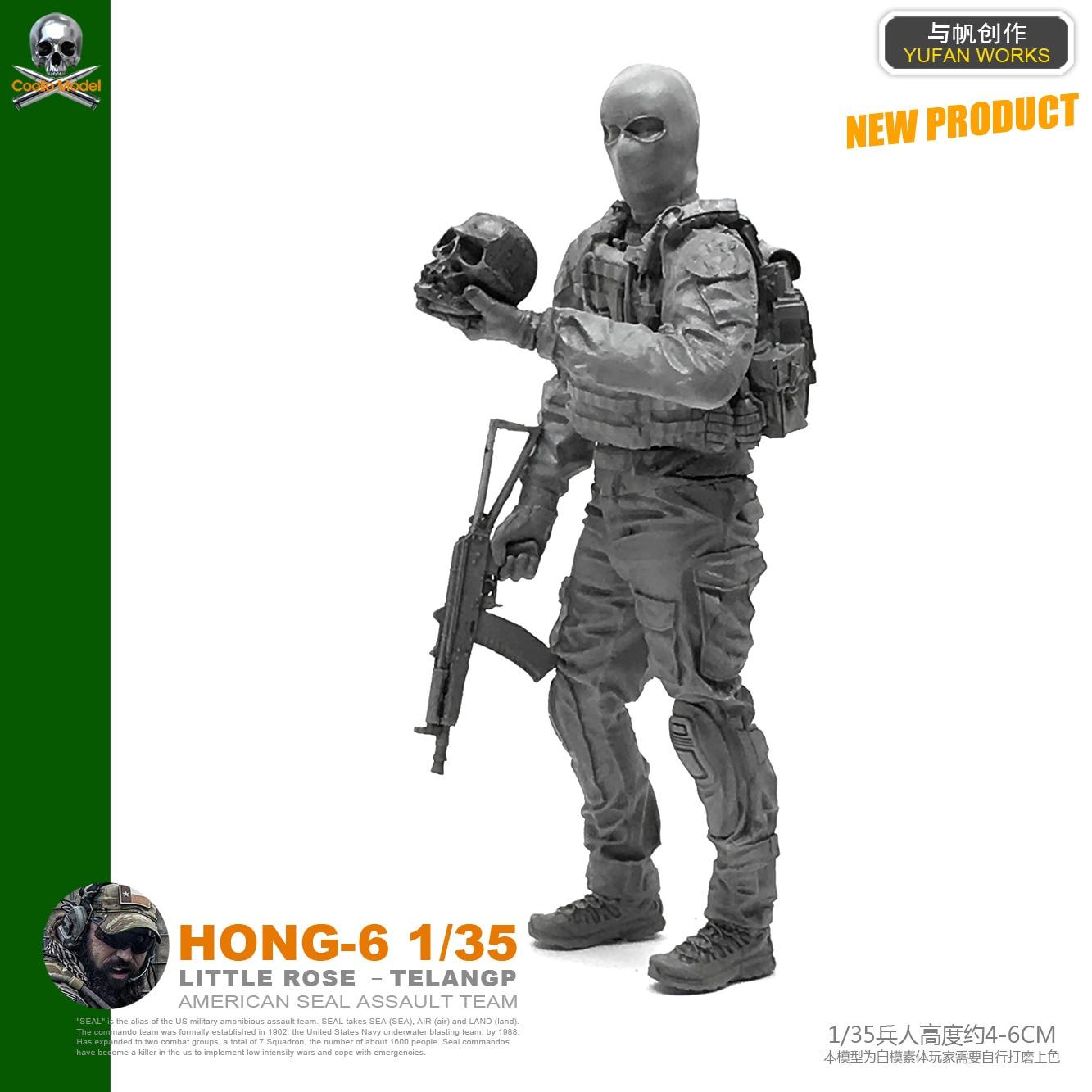 1/35 figura resina soldado modelo kits auto-montado Hong-06