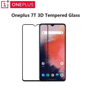 Original Oneplus 7T 3D Tempered Glass Screen Protector Full Cover Perfect Fit Curved Edge Super Hard 9H Top Quality 7T Film