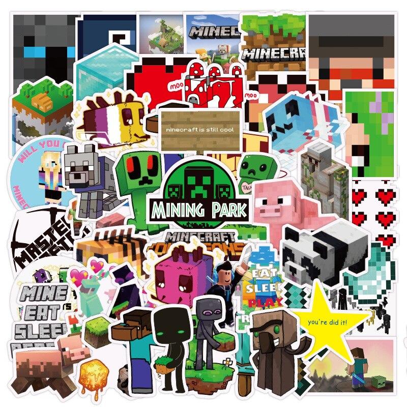 50 Uds pegatinas de dibujos animados My World para teléfono móvil, taza, cuaderno, equipaje, portátil, álbum de recortes, DIY, pegatina decorativa, pegatina impermeable