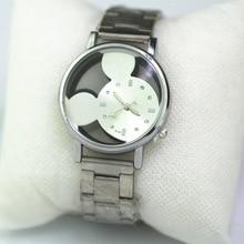 Fashion Cartoon Watch Women Mickey Watches student Girls Boys Clock stainless steel Quartz WristWatc