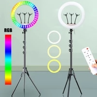 18inch 45cm selfie led ring light photography lighting photo studio ringlight 2700 7000k with 3 phone clip holder remote control