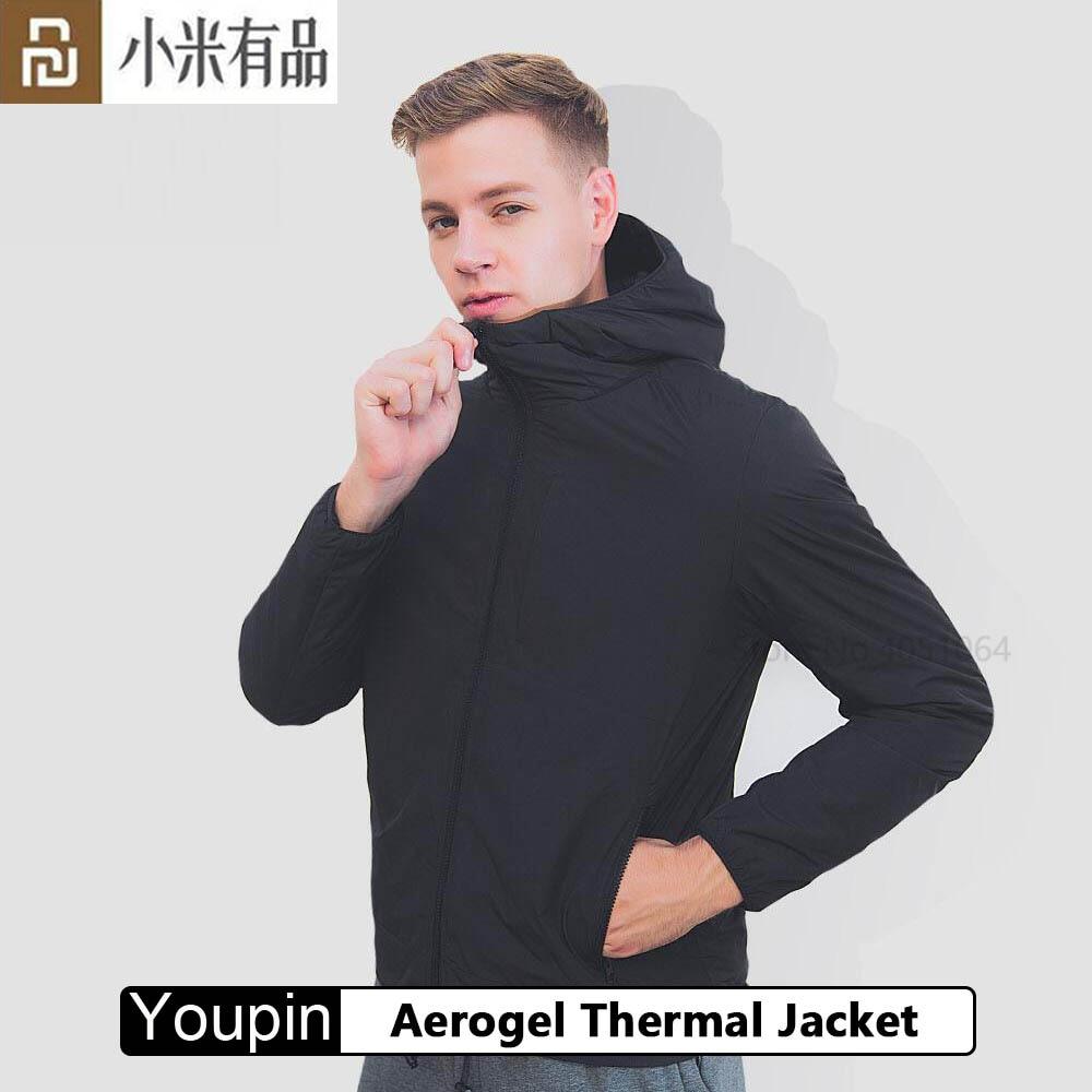 Youpin aerogel revestimento térmico de alta tecnologia aerogel material misturado casaco de inverno leve à prova de vento tecido repelente de água