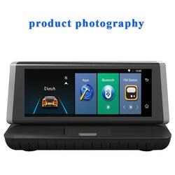 """Multifunções 8 """"Car DVRs Câmera 4G WIFI Bluethooth ADAS FHD 1080P GPS de Navegação Gravador de Vídeo de Lente Dupla para Phisung E02"""