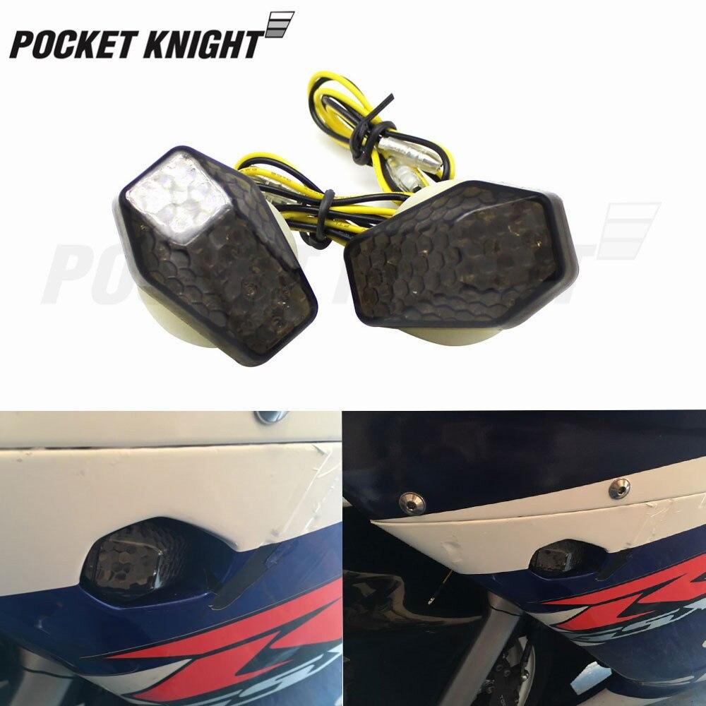 Indicador LED de señal de giro, luz incrustada para Suzuki GSXR 600 750 1000 SV 650 650S 1000 1000 S Bandit 600S, luz intermitente para motocicleta S