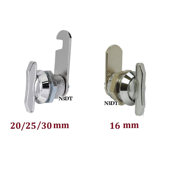 10 Pçs/lote Chrome Liga de Zinco Preto Polegar Keyless Cam Lock Gabinete de Arquivo de Mesa caixa de Ferramentas Caixa de Correio