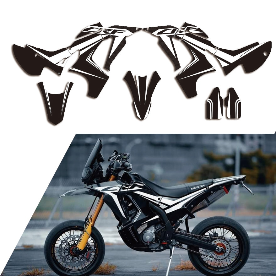 Motorcycle Team Decals Graphic Stickers Customized DECO dekor Kit For Honda CRF250 RALLY 2017 2018 2019 2020