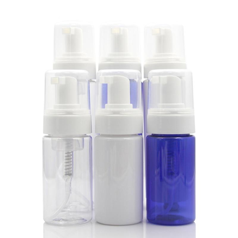 20pcs PET Mousse Bottle Empty Transparent Refillable Foam Bottles Shampoo Shaving Cosmetic Foaming Container Plastic Tube 100ml