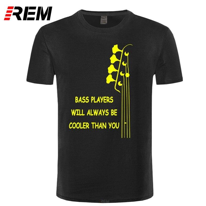REM Новая летняя стильная крутая футболка с бас-гитарой, забавная электрическая футболка с двойным ритмом, мужские футболки с коротким рукав...