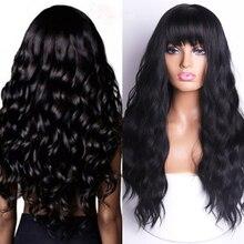 LING-perruque synthétique longue 18 couleurs   Accrochable noire à brune, haute densité à température, adaptée aux femmes noires/blanches