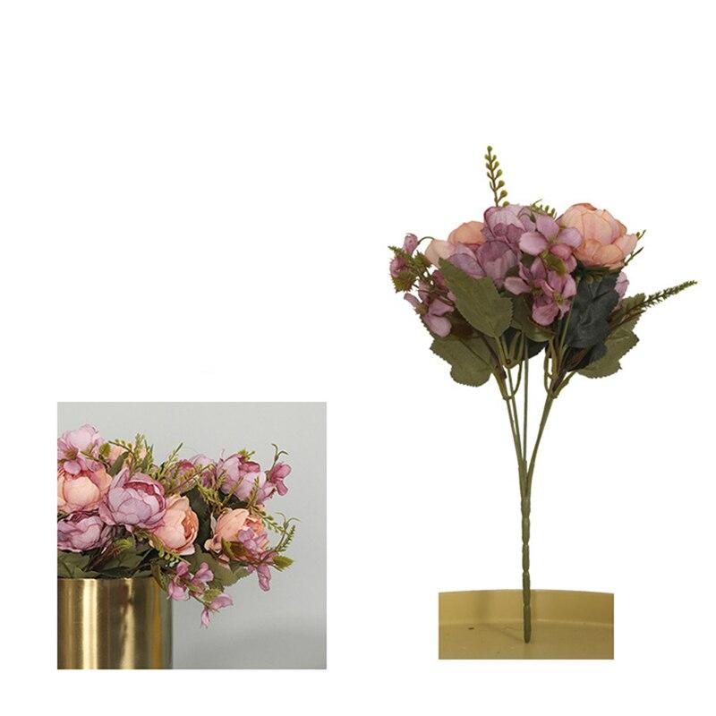 Искусственный искусственный шелк розовый цветок пиона головы оптом ремесло Свадебная вечеринка Decoratove