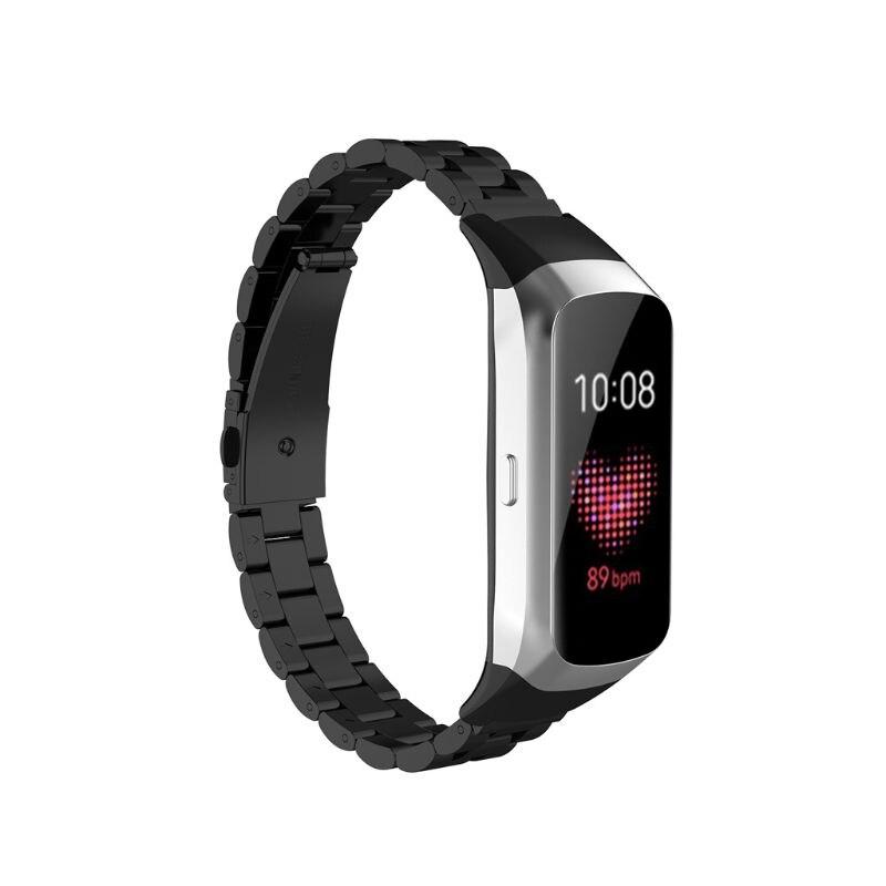 Pulseira de Relógio de Aço Pulseira de Pulso Substituição para Samsung Inoxidável Liberação Rápida Galaxy Sm-r370 Relógio 19qa Fit