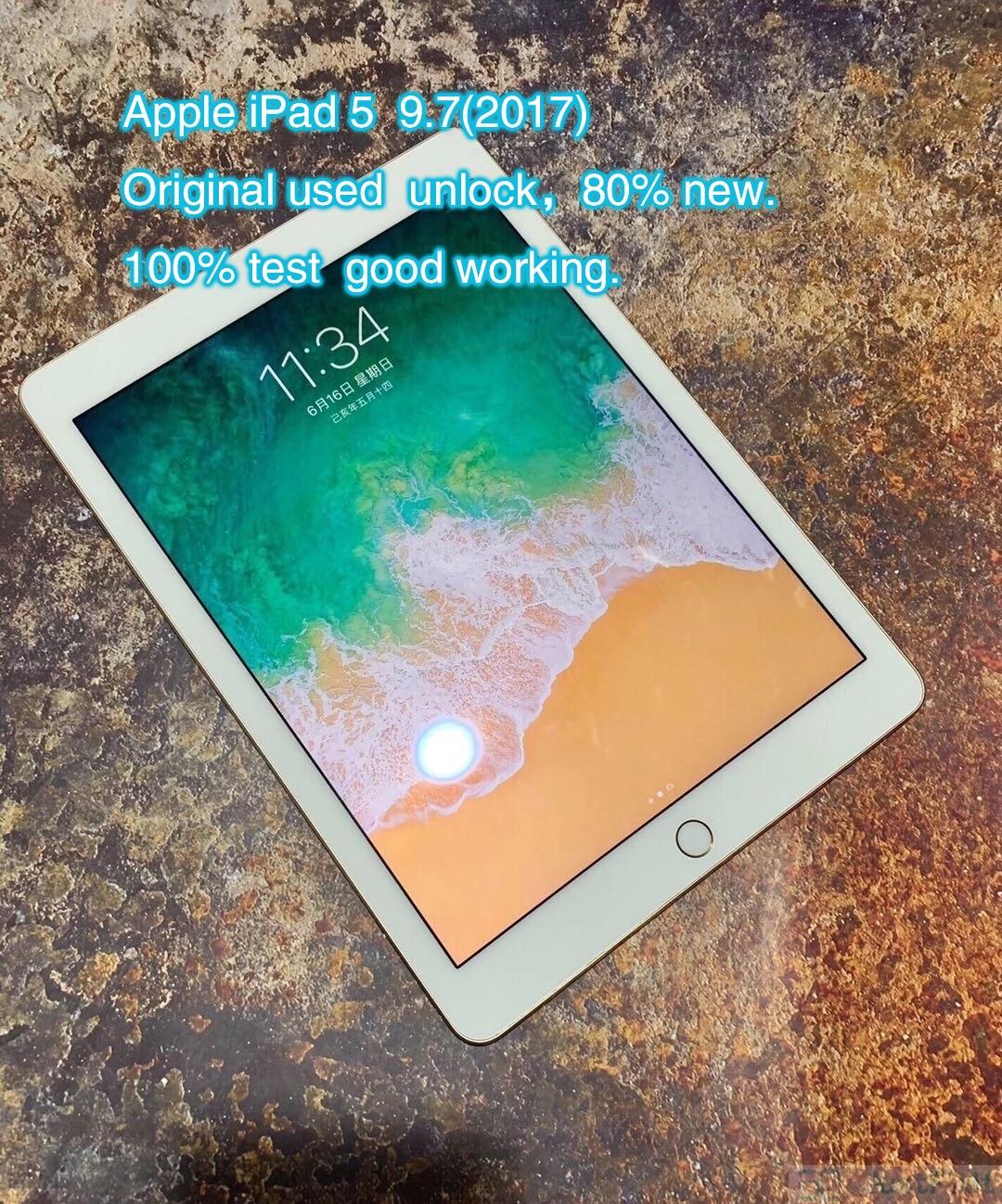 Original Refurbish Apple IPad 5 ipad  A1823  A1822 5th IPAD 2017 9.7 inches Wifi Version Black white About 80% New