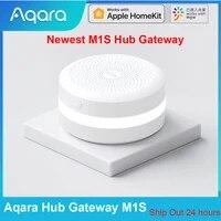 Aqara     Hub passerelle M1S avec lumiere RGB  telecommande avec application Zigbee 3 0 pour securite domestique intelligente  fonctionne avec application Mijia et Apple Homekit  nouveaute