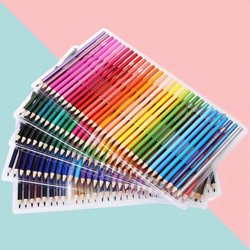 deli wooden colored pencils set soluble pencil for kids drawing pencils sketch artists painting supplies 12 18 24 36 colors box 160 Colors Wood Oil Colored Pencil Set Painting Color Art Markers Pencils For Drawing Sketch Kids Gifts Art Supplies Stationery