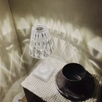 ins creative romantic light luxury modern bedside bedroom atmosphere night light charging led crystal diamond table lamp
