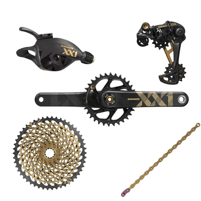 SRAM XX1 EAGLE Groupset 12 Speed Mountain Road Bike Bicycle FC+CS+SL+RD+CN 12s 170 34T Crankset 10-50T cassette 126L Chain Shift