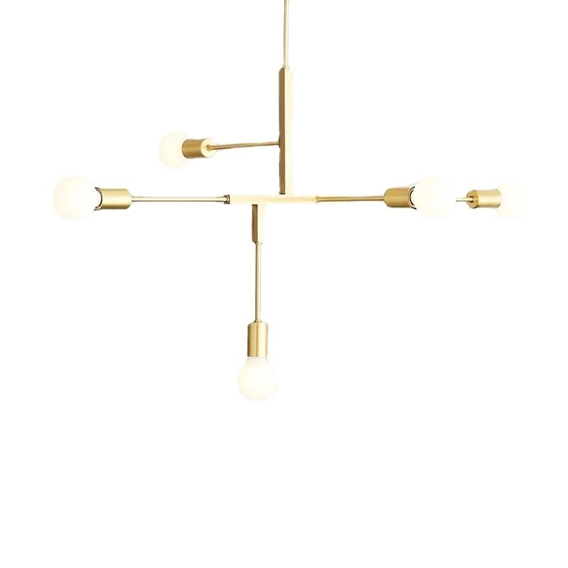 قلادة LED الثريا لغرفة المعيشة غرفة نوم المنزل الصناعية ضوء الثريا الحديثة لوفت ثريا تركب بالسقف مصباح الإضاءة