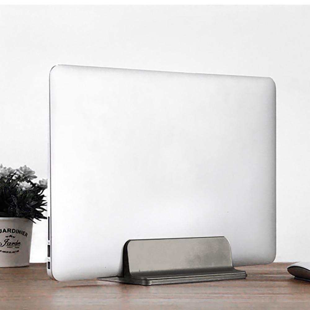 Soporte de aluminio para portátil para Macbook Air Pro, soporte de escritorio Vertical estable con soporte ajustable para portátil
