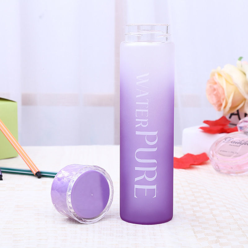 Cute Frosted Glass Cup Creative Water Cup Female Student Couple Cup Glass Water Bottle Water Bottles