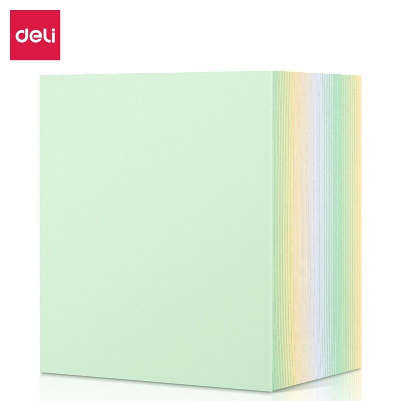 Deli 21719 Notepad  Transparent Sticky Note Pads Waterproof Self-Adhesive Memo Notepad School Office Supplies Stationery