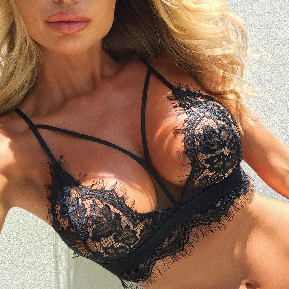 Women Lingerie Corset Lace Flowers Bralette Bralet Bra Tank Cami Crop Cutout Underwear Top Sell Female 2020 New Arrival #W3