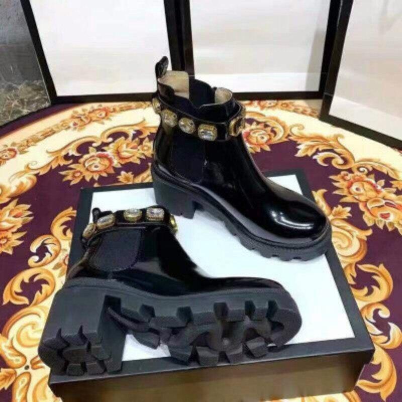أسود المرأة الفاخرة حذاء من الجلد النساء تشيلسي مكتنزة منخفضة الكعب الأحذية الإناث أحذية منصة السيدات ربيع جديد G ماركة الجوارب