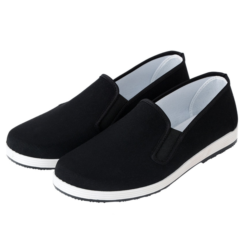 Тканевая обувь в стиле старого Пекина для мужчин, традиционный китайский стиль, кунг-фу, Брюс Ли Тай Чи, ретро обувь на резиновой подошве, Размеры 35-45