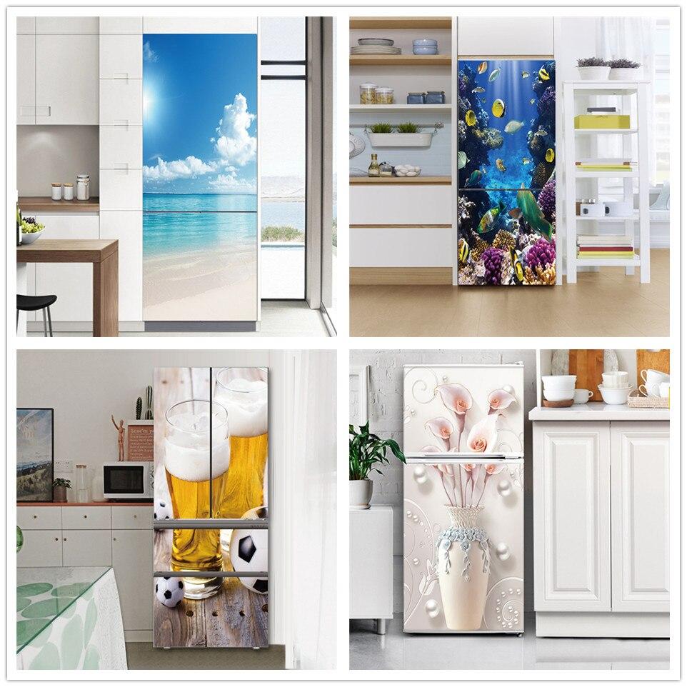 60x180cm pvc auto-adesivo geladeira adesivo casa design decoração papel de parede cartaz guarda-roupa geladeira porta decoração decalques mural