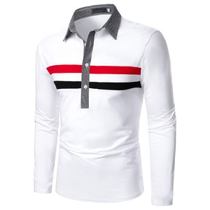 Men Polo Shirt Men's Business Work Casual Cotton Male Top Tees Autumn Long Sleeve Turn-down Collar Polo Shirts  Mens Clothing
