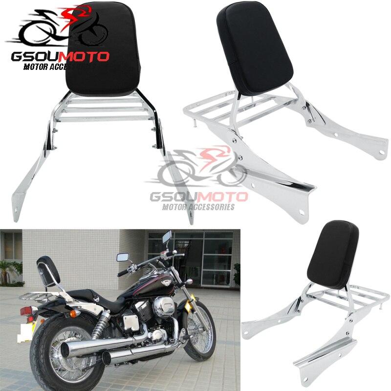 Traseira da motocicleta Encosto Sissy Bar Bagagem Rack Para Honda Shadow Espírito VT 750 DC 750DC VT750 Viúva Negra 2001-2008 2007 2006