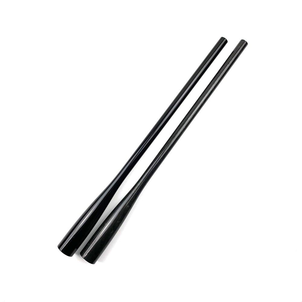 NooNRoo cono tubo de carbono 41cm agarre Rod componente con varillas de reparación DIY accesorio vacío