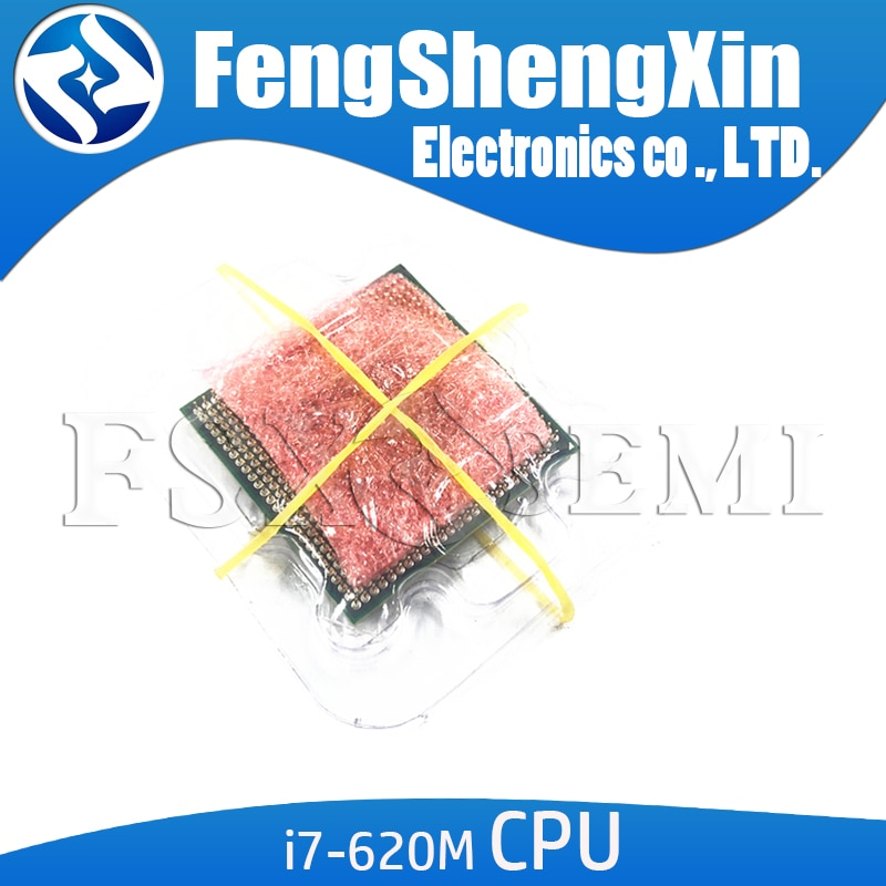 Core I7 620m cpu 4M/2,66 GHz/3333 MHz/procesador de portátil de doble núcleo I7-620M Compatible con HM57 HM55 100% funciona correctamente