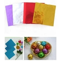 100pcs kraft paper gradient multi color aluminum foil candy paper chocolate sweets wrappers birthday party decoration treat bags