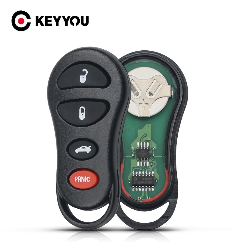 KEYYOU-llave remota para coche, llave de 3/4 botones, 315Mhz, sin llave, Fob,...