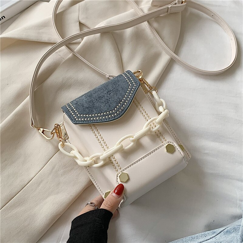 Baellerry مصمم حقيبة كتف صغيرة المرأة بو الجلود جيب للهاتف حقيبة محفظة السيدات حقائب ساعي مموهة محفظة الإناث